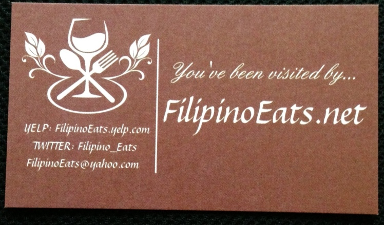 FilipinoEats.net card (front cover)